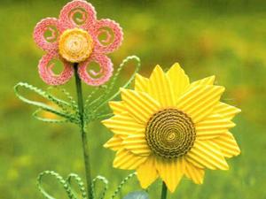 Цветы из гофрированного картона