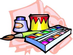 Краски для украшения ракеты