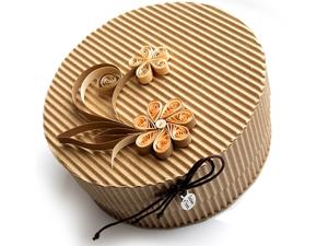 Подарочная коробочка из гофрированного картона
