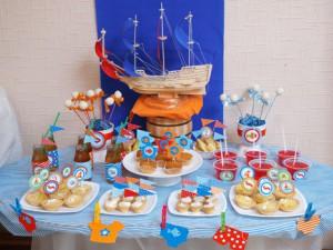 Украшение детского стола в морской теме