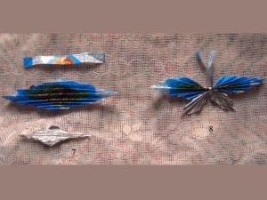 Изготовление бабочки из фантиков