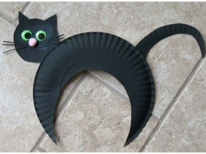 Забавный котик из тарелки