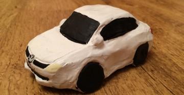 Машинка из пластилина