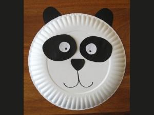 "Маска ""Панда"" из тарелки круглая"