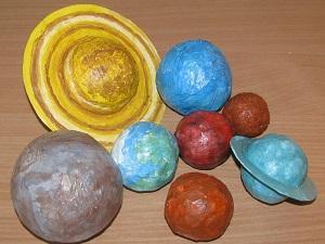 Изготовление солнечной системы из папье маше