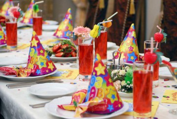 Украшение детского стола на день рождения