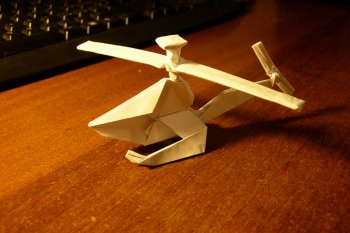 Вертолет из бумаги