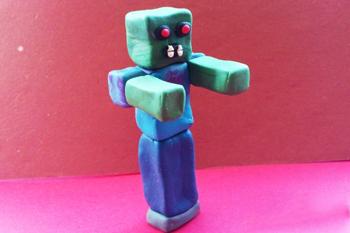 Пластилиновый персонаж из Майнкрафт