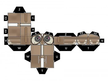 Робот Валли из бумаги