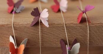 Оригинальные бумажные бабочки