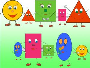 Определение геометрических фигур детьми