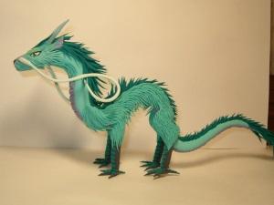 Китайский дракон из пластилина