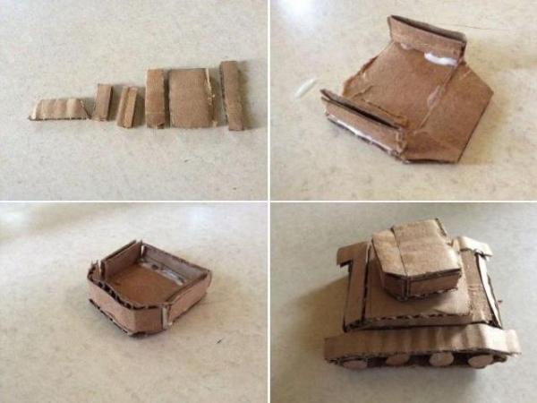 Принцип изготовления танка из картона