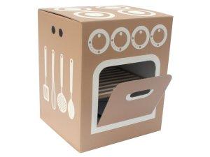 Легкость изготовления детской кухни из картонных коробок