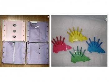 Рамка с застежками и разноцветные ежи