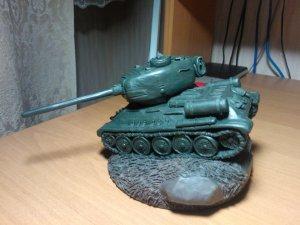 Танк Т 34 из пластилина