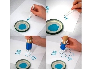 Техника рисования ватными палочками