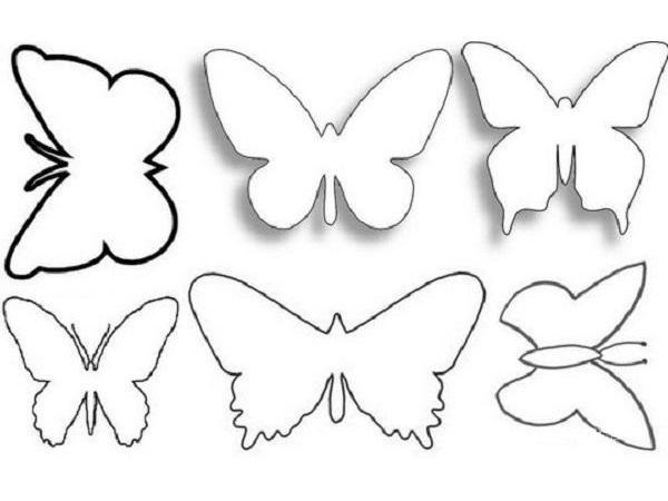 Трафареты бабочек из бумаги