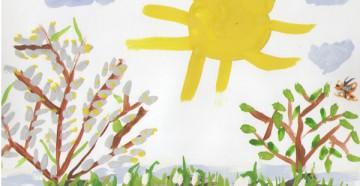 Весна на детском рисунке